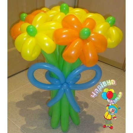 Букет з кульок на 5 квіток