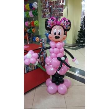 Фігура з кульок Мінні Маус Рожева