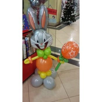 Фігура з кульок Заєць сірий