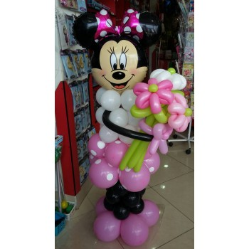 Фігура з кульок Мінні Маус з квітами