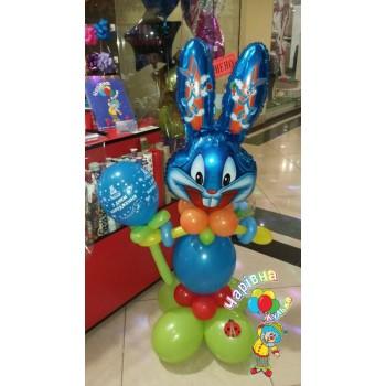 Фігура з кульок заєць синій