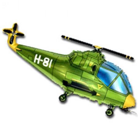 Фольгована фігура Вертоліт зелений
