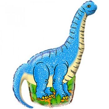 Фольгована фігура Динозавр голубий