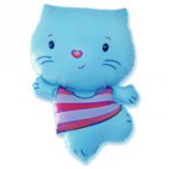 Фольгована кулька Hello Kitti голуба