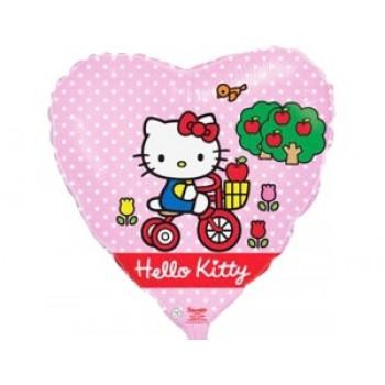 Фольгована кулька Hello Kitty рожева
