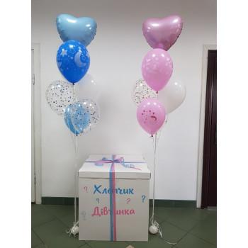 Набір на визначення статі коробка+кульки