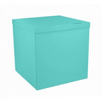 Коробка аквамарин без напису.