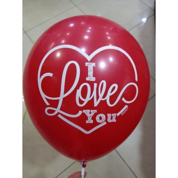 Латексна кулька I love you