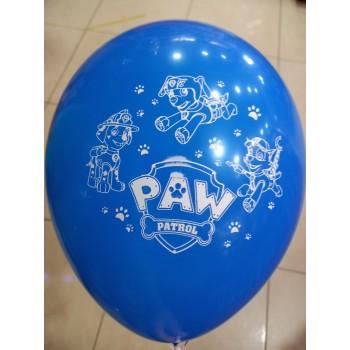 Латексна кулька Щенячий патруль синя
