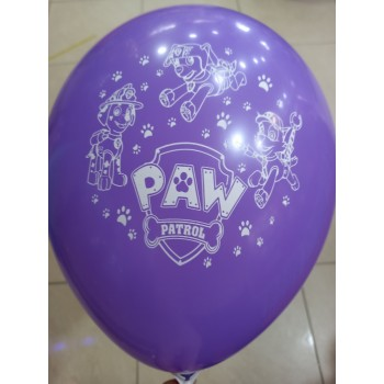Латексна кулька Щенячий патруль фіолетова