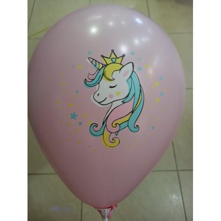 Латексна кулька Єдиноріг рожева