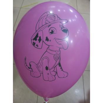 Латексна кулька Щенячий патруль рожева