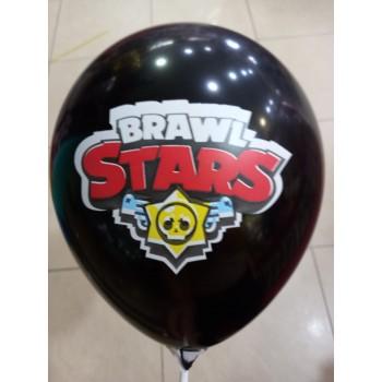 Латексна кулька Бравл Старс чорна