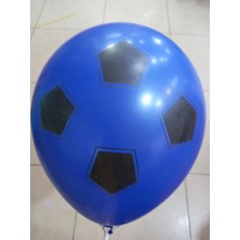 Латексна кулька Футб мяч синій