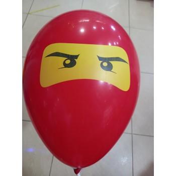 Латексна кулька Ніндзяго червона