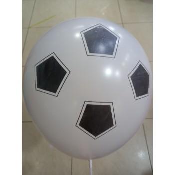 Латексна кулька Футб м'яч біла