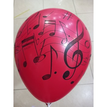 Латексна кулька з нотами
