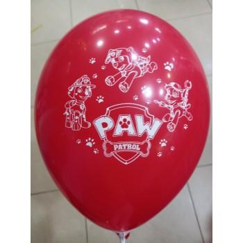 Латексна кулька Щенячий патруль червона