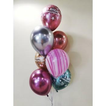 Фонтан хромованих кульок на день народження