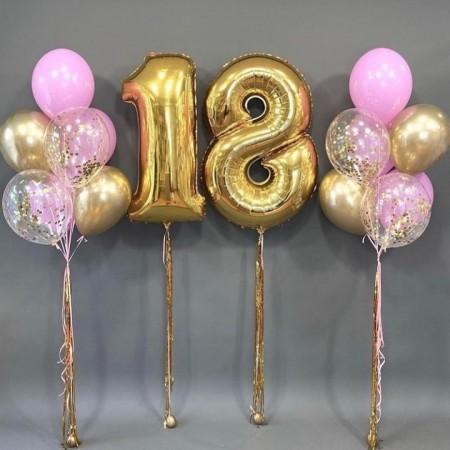 Набір кульок на 18 років для дівчини