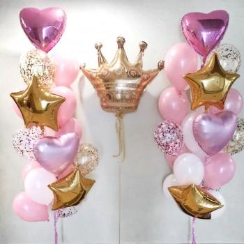 Набір кульок для дівчинки з короною