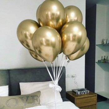 Набір хромованих золотих кульок