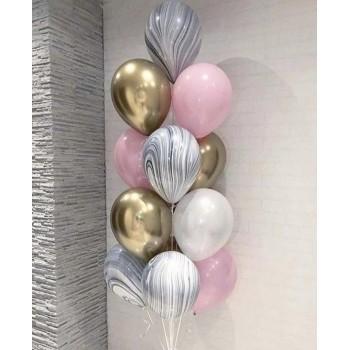 Набір хромованих та мрамурних кульок
