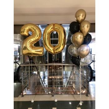 Набір кульок на 20 років золото