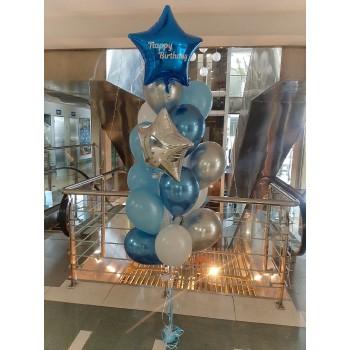 Фонтан кульок з написом