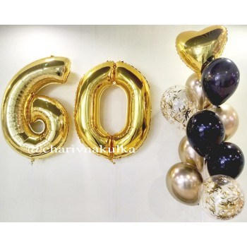 Набір кульок на 60 років