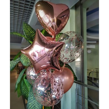 Фонтан кульок рожеве золото