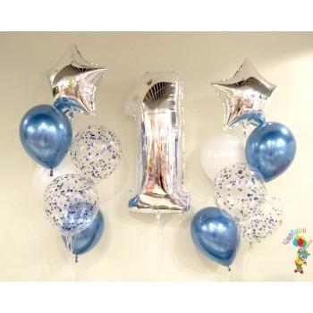 Набір кульок на 1 рік для хлопчика