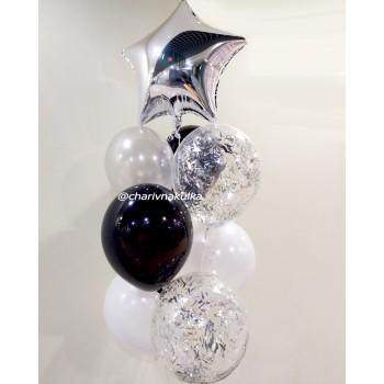 Фонтан кульок чорно-білі