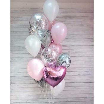 Фонтан кульок рожевих+агат