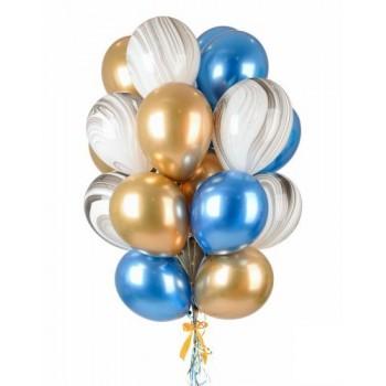 Набір хромованих кульок+агат