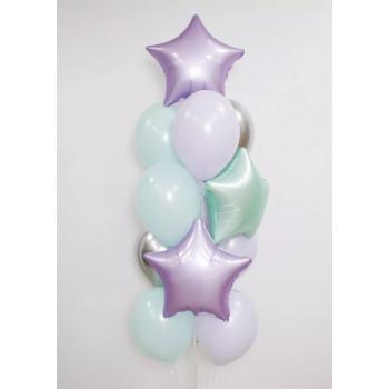Набір ніжно-бірюзових кульок