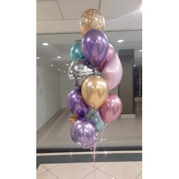 Набір кольорових кульок хром на день народження