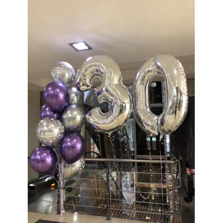 Набір хромованих кульок на 30 років