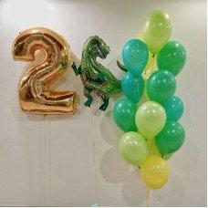 Набір кульок з динозавром на 2 роки