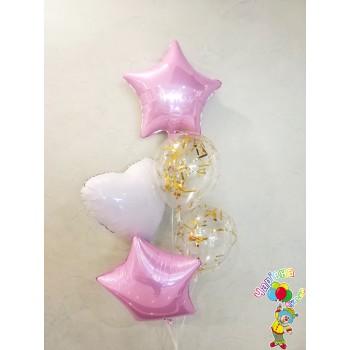 Фонтан фольгованих кульок з конфеті