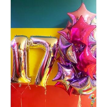 Набір фольгованих кульок на 17 років