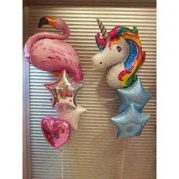 Набір кульок єдиноріг Фламінго для дівчинки