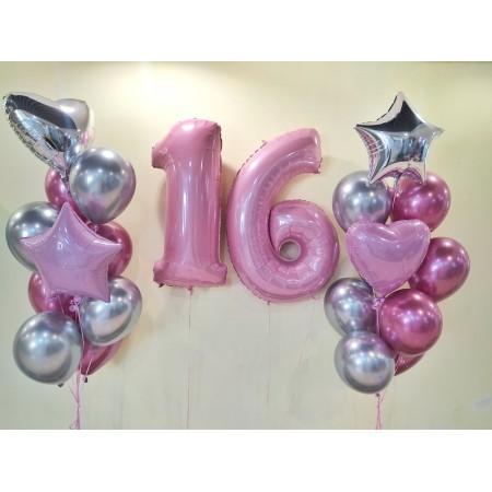 Набір кульок на 16 років для дівчини