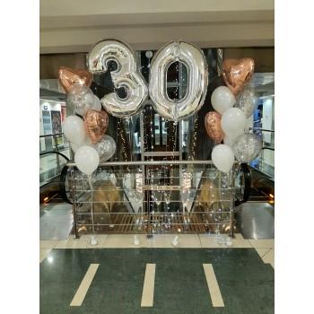 Набір кульок на 30 років рожеве золото
