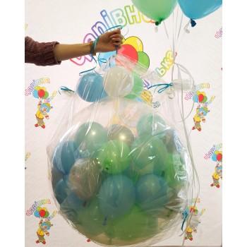 Куля-сюрприз на 50 кульок, мятний